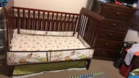 Baby's brown wooden crib with mattress  Los Angeles, 91402