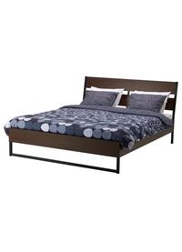 Full size bed frame + mattress ikea - 1 year old