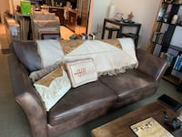 Brown leather sofa & chair Fort Worth, 76107