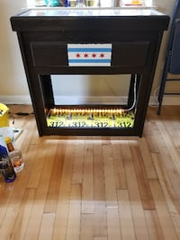 Bar cabinet with handmade bottle cap top Chicago