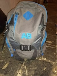 grey and blue AB backpack