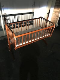 Wooden Baby Cradle- Century Crosstown Apartments pick up Tampa, 33619