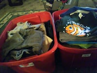 Bin of boys clothes,(over flowing) Summerville, 29483