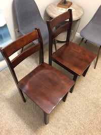 Wooden dining set, Table with 2 Chairs. You can keep the table folded or extended   Pineville, 28134