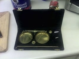 COLLECTORS BRASS SCALE SET IN CASE WITH WEIGHTS! ONLY $50 LONDONDERRY