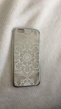 white and gray floral iPhone case