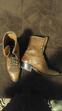 Women's brown leather