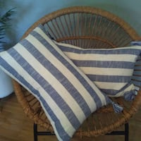 white and blue striped textile Frederick