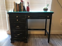 Black wooden single pedestal desk Falls Church, 22046