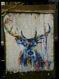 blue and multicolored abstract painting Ogden, 84403