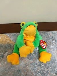 green and yellow Ty Beanie Baby bear plush toy Toronto, M9W 5E8