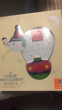 Vintage circus elephant puzzle- in box never used Fairfax, 22032