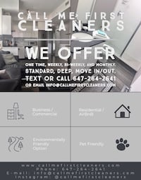 CLEANING SERVICES AVAILABLE Toronto