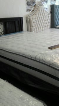 white and gray floral mattress East Los Angeles, 90022