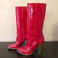 Dolce & Gabbana Red Patent Boots  Toronto, M9A 4Y6