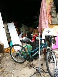 Stuffed animals clothes, 2 bicycles. Misc. Tools s Little Rock, 72205