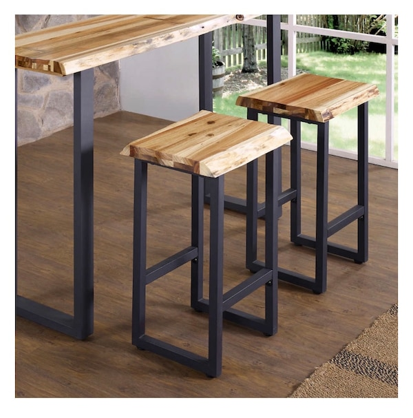Awesome 2X Wooden Bar Stools Home Interior And Landscaping Pimpapssignezvosmurscom