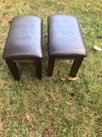 2 short leather bar stool or sitting stools for  living room...  Rockville, 20851