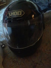 black Shoei full face helmet