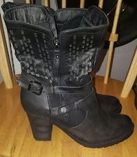 Black Leather Boots Size 10 Raleigh, 27604