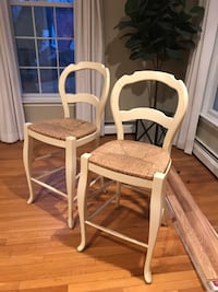 Two Pottery Barn Barstools