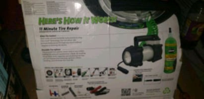 Slime Large tire tire repair system for emergencies. Dont be stranded
