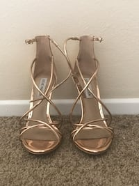 pair of brown leather open-toe ankle strap heels Laguna Niguel, 92677