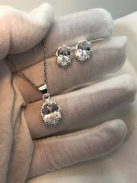 925 Sterling Silver Oval CZ Set Kitchener, N2E 2A3
