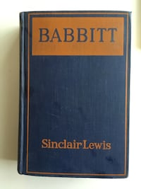 1922 Antique HardCover Novel Babitt by Sinclair Lewis