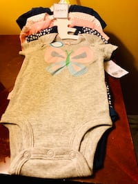 New Carters 3M baby 5 pieces girl Onesies