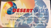 Heating system installation and repairs  Las Vegas