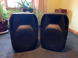 American Audio Speakers with speaker stands