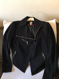 Tristan Black Bolero Jacket with Red Trim Toronto, M8V 4E8