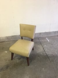 brown wooden framed green padded chair London, N5V