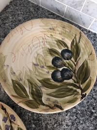 """2 9"""" olive themed display plates North Bergen, 07047"""