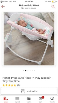 baby's white and gray bouncer Bakersfield