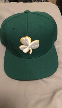 green and white fitted cap Brampton, L6R 1M2