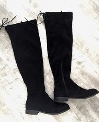 Black over the knee boots  Edon, 43518