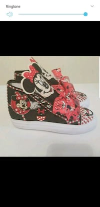 red and black Mickey Mouse print high top sneakers Oxon Hill, 20745