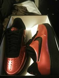 pair of red-and-white Nike sneakers Newport News