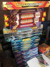 Pokemon cards gx ex mega and more kind of boxes sealed Bellflower, 90706