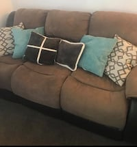 Nice reclining microfiber couches . Can Deliver Rocklin