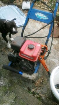 red and blue pressure washer 36 km