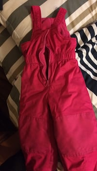 Pink 2T snow pants overall style