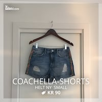 blå denim nød shorts Oslo, 0369