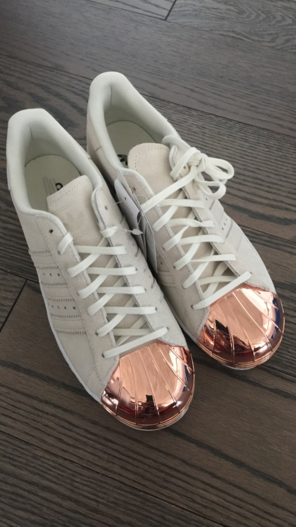 Used BNIB SOLD OUT Adidas Superstar Rose Gold Metal Toe Cap for sale ... a10bdab43f8