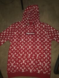 red and white zip-up hoodie Fairfax, 22032