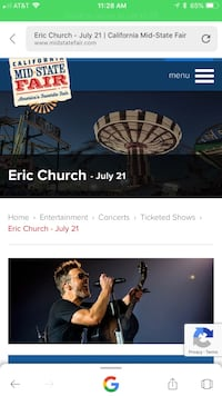 Eric Church tickets Bakersfield, 93314