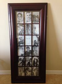 Brown wooden grayscale photo collage