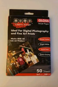 SOHO Glossy Ink-Jet Photo Paper - 5x7 Germantown, 20874